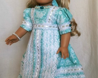 OOAK Handmade Doll Couture Dress for 18 inch dolls by Kizzie Creations