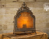 Vintage London Map Lantern Table Lamp