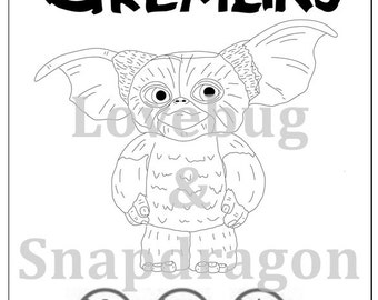 gremlins coloring pages - fresh prince of bel air coloring book instant printable