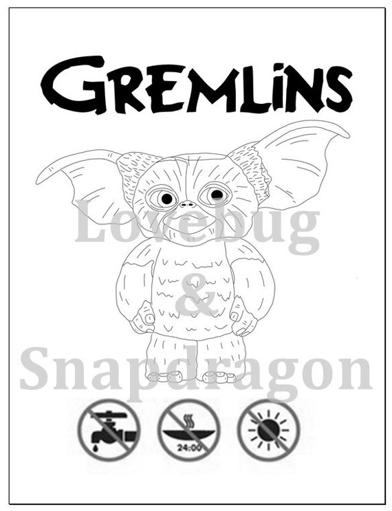 Gremlins Coloring Book W Greta Spike Amp Gizmo Instant