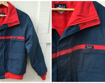 Vintage Woolrich EST 1830 Navy and Red Thermal Insulate Parka- Men's Large