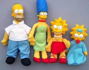 Vintage 1990's Simpsons Burger King Plush Dolls