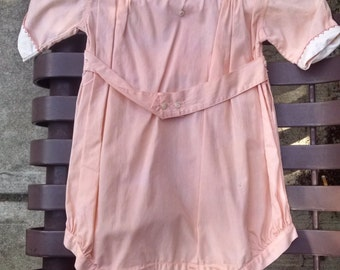 1940's Romper Outfit, Cute Romper Outfit, Baby Outfit, Cute Vintage Clothing, Toddler Romper, Baby Romper, Peach Romper, Toddler Clothing
