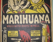 Marihuana 1967 Morgan Love Edition of 1936 Film Movie Poster