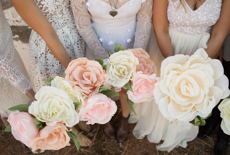 large paper flower rose bridal paper bouquet. Black Bedroom Furniture Sets. Home Design Ideas