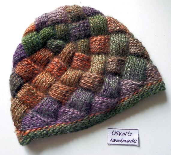 Knitting Pattern Entrelac Hat : Entrelac knit beanie entrelac knit hat knitted beanie
