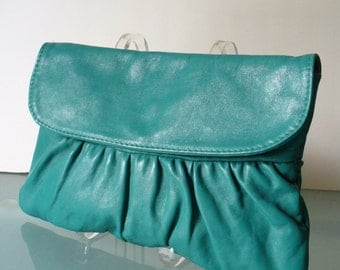 Made in Italy Vintage Jade Green Clutch Bag