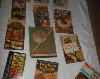 antique & vintage recipe booklets,books,recipes for cooking,retro cook books,Westinghouse,General Electric,Pillsbury Bakeoff,lot of recipes