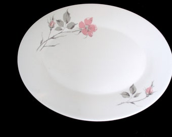 Edwin Knowles Criterion Shape Dawn Rose Pattern - Designed by Erwin Kalla - Medium Platter