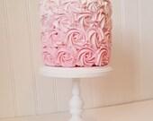 6 inch Cake Stand / Cupcake Stand / Rustic Wood / Smash Cake / Photo Prop / 1st Birthday /Small Wedding cake / Baby shower cake stand stand