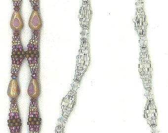 Totally Tubular woven beaded bracelet/necklace pattern tutorial