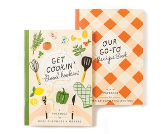 Get Cookin' Meal Planner and DIY Recipe Book Notebooks Set