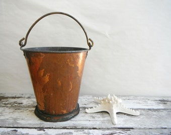 Vintage Copper and Brass Bucket