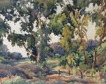 Harry DeMaine listed New York artist watercolor landscape