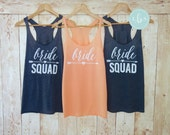 Bride Squad Arrow Tank. Bridesmaid Tanks. Bridesmaid Shirts. Bride Squad Tanks. Bride Tribe Shirts. Bachelorette Party Shirts Eco White Font