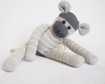 Monty Mouse. Sock toy, sock mouse for young child.  Plush toy animal. Softie.