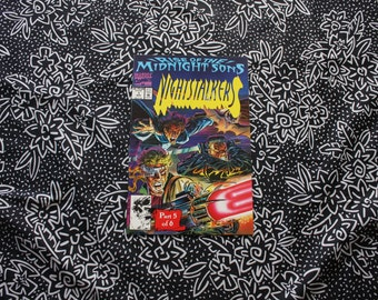 Nightstalkers #1 Vintage Marvel Modern Age First Issue Comic Book. Rise Of The Midnight Sons 5 Of 6. Vintage 90s Ghost Rider Vampire Comic