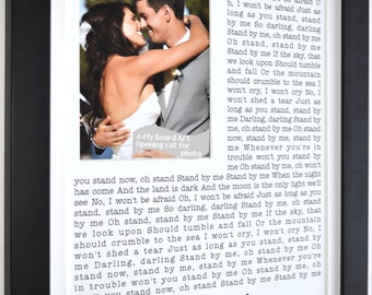 Wedding song lyric art with photo, wedding song lyrics, custom wedding anniversary, wedding photo, valentines day