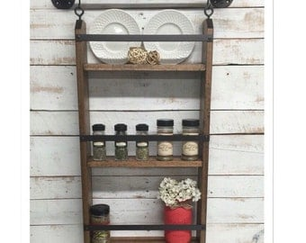 Wood Kitchen Shelf, Kitchen Shelves, Kitchen Wall Shelf, Shelving Unit, Kitchen  Shelving