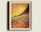 Vintage Inspired Astronomy Retro Art  Print Poster