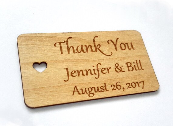 Rustic wedding decor, Wedding favor tags, Gift tags, Wedding tags ...
