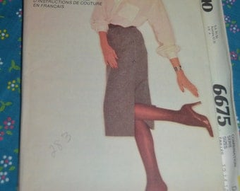 McCalls 6675 Show Me  Misses Skirt Sewing Pattern - UNCUT - Size 12 14 16