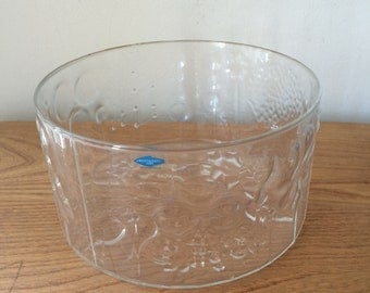 Vintage Finnish Flora Glass Serving Bowl by Oiva Toikka
