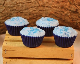 Blueberry Cupcake Wax Tarts, Cupcake Wax Tarts,  Fake Food, Blueberry Scent Wax