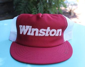 Vintage Winston Cigarettes Snapback Trucker Hat