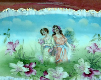 Antique PM Bavaria, Cabinet Bowl, Hand Painted - 1895 to 1908 - Rare, Collectible!