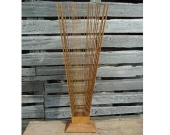 "Kinetic wood sculpture 41"" tall - Abstract wood sculpture - Modern sculpture - Kinetic sculpture  Home decor - Abstract art, Modern wood art"