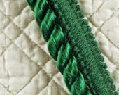 2 YARDS, Sewing Trim, Twisted Rope, Green Velvet, Heavy Weight, 1 Inch Wide, L38