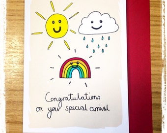 Congratulations on Your Special Arrival Birth/ Adoption Greeting Card