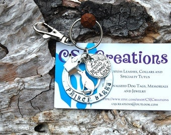 Personalized Pet Memorial Keychain, Personalized Pet Memorial Necklace, Personalized Pet Memorial Bracelet, Memorial Rear View Mirror Charm