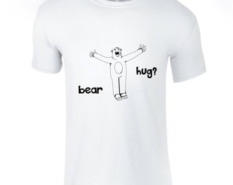 Bear t-shirt, hand drawn tee, illustration shirt, shirt for hugger, animal lover, minsk