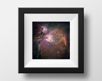Galaxy Print Orion Nebula Poster Outer Space Decor Art Print Astronomy Hubble Telescope Universe Nature Photography Wall Art Home Decor