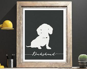 dachshund artwork | etsy