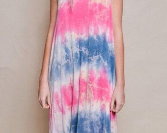 Tie-Dye Tank Dress, Music Festival Dress, Hippie, Boho, Tie Dye Dress
