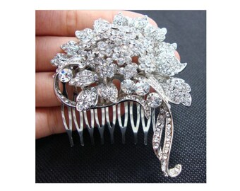 Wedding Comb, Bridal Comb,  Rhinestone Headpiece, Rhinestone Bridal Hair Jewelry, Wedding Hair Accessory, Wedding Headpiece