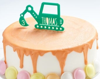 Personalised Digger Cake Topper