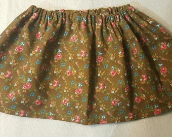 Vintage Floral Skirt 0-3M - 3T