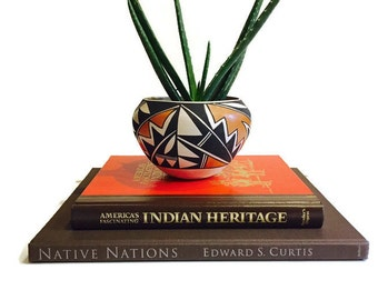 Vintage Coffee Table Books Art Books Native American Heritage History Indian Nations Hopi Navajo Coffee Table Photo Books Hardback Books