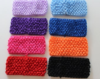 "Crochet Headbands, 2.75 Inch Crochet Headband, 2 3/4"" Crochet Headbands, DIY Tutu, DIY Headband"