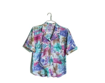 Colorful Hawaiian Shirt | Vintage Hawaii | Ahola Shirt | Vintage Clothes | Beach Shirt