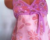 Vintage sunny dress Lilac dress with paisley Silk vintage dress