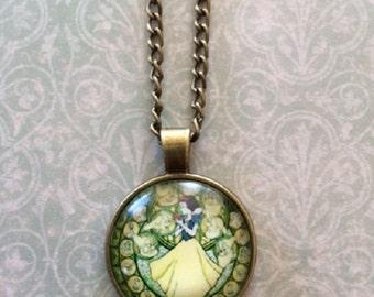 SALE - CLEARANCE - Princess Necklace - Princess Jewelry - Princess Pendant - Princess Wedding - Yellow Necklace - Yellow Jewelry - Necklace