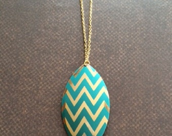 Chevron Necklace - Chevron Jewelry - Chevron Necklace in Handmade - Chevron Jewelry in Handmade - Turquoise Necklace - Turquoise Jewelry