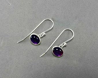 Amethyst Earrings, Purple Amethyst Jewelry, Purple Gemstone Jewelry, Purple Earrings, February Birthstone, Aquarius, Pisces, Amethyst Drop