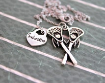 Lacrosse Necklace - Lacrosse Mom Jewelry - Girls Lacrosse - Lacrosse Mom - Lacrosse Girlfriend - Varsity - Lacrosse Champs - Graduation Gift