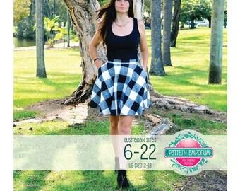 PATTERN Ladies Circle Skater Skirt - PDF Sewing Pattern - Instant Download - Pattern Emporium